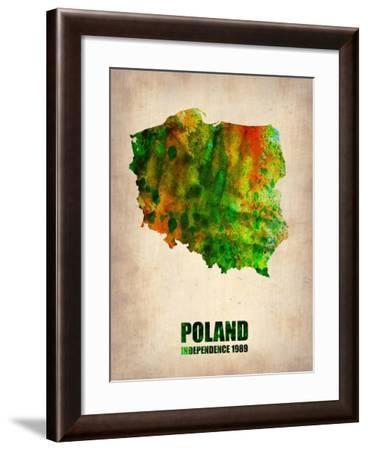 Poland Watercolor Poster-NaxArt-Framed Art Print