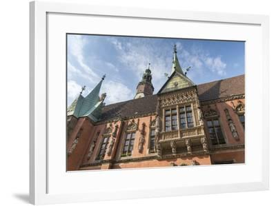 Poland, Wroclaw, Old Town Hall, Bay on the South Side of the Gothic Building-Roland T. Frank-Framed Photographic Print