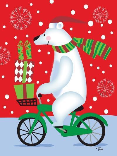 Polar Bear & Bicicle-Teresa Woo-Art Print
