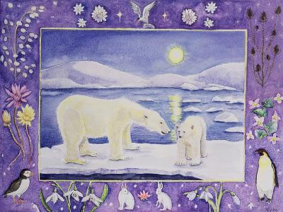 Polar Bear (Month of January from a Calendar)-Vivika Alexander-Giclee Print