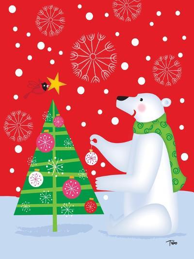 Polar Bear & Tree-Teresa Woo-Art Print