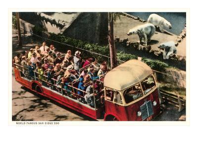 Polar Bears at Zoo, San Diego, California--Art Print