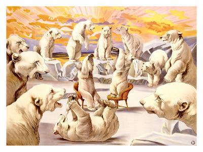 Polar Bears, Circus-Adolphe Friedl?nder-Giclee Print