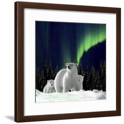 Polar Family 002-Clare Davis London-Framed Giclee Print