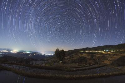 Polar Star Trails Above Honghe Hani Rice Terraces in Southwest China-Stocktrek Images-Photographic Print