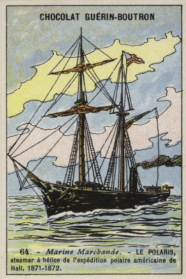 Polaris, Ship of Charles Francis Hall's American Expedition to the North Pole, 1871-1872--Giclee Print
