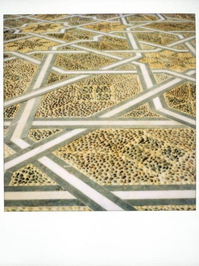 Polaroid Image of Geometric Patterns in Paving at Mausoleum of Mohammed V, Rabat, Morocco-Lee Frost-Photographic Print