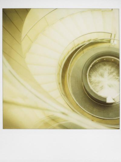 Polaroid of View Looking Down on Spiral Staircase in the Louvre Museum, Paris, France, Europe-Lee Frost-Photographic Print