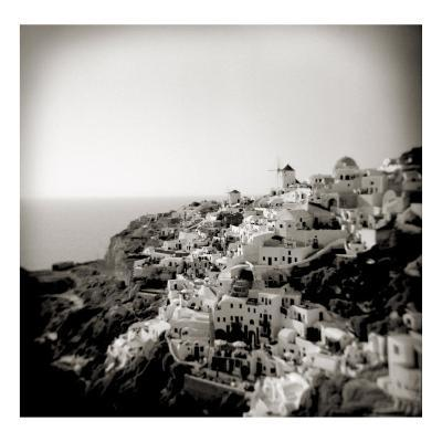 Polaroid of View of the Village of Oia, Santorini, Cyclades, Greek Islands, Greece, Europe-Lee Frost-Photographic Print