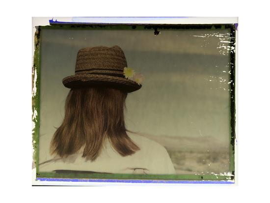 Polaroid Transfer Portrait of a Woman in Death Valley National Park, California-Bill Hatcher-Photographic Print