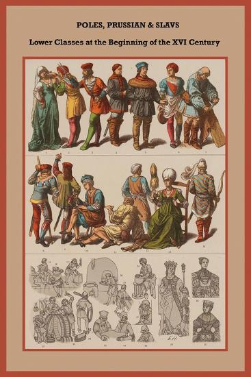 Poles, Prussian and Slavs Lower Classes at the Beginning of the XVI Century-Friedrich Hottenroth-Art Print