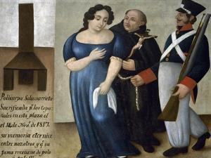 Policarpa Salavarrieta on Her Way to Execution in Bogota, 1817