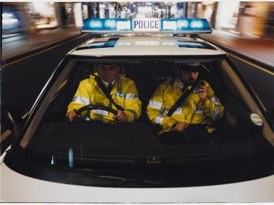 Police Car Chase 1991--Photographic Print