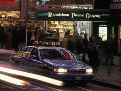 Police Car in Times Square, NYC-Rudi Von Briel-Photographic Print