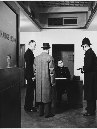 Police Charge Room in a Police Station Metropolitan Police--Photographic Print