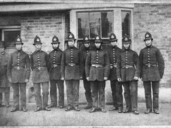 Police Group 1864--Photographic Print