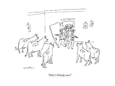 """Police! Nobody moo!"" - New Yorker Cartoon--Premium Giclee Print"