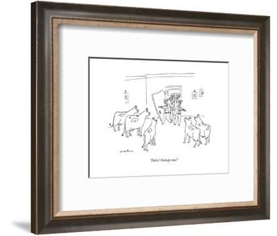 """Police! Nobody moo!"" - New Yorker Cartoon--Framed Premium Giclee Print"