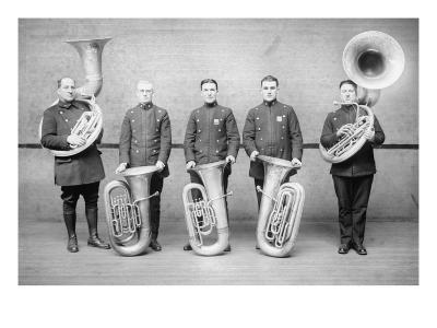 Police Tuba Quartet--Art Print
