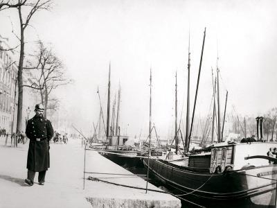 Policeman by a Canal, Rotterdam, 1898-James Batkin-Photographic Print
