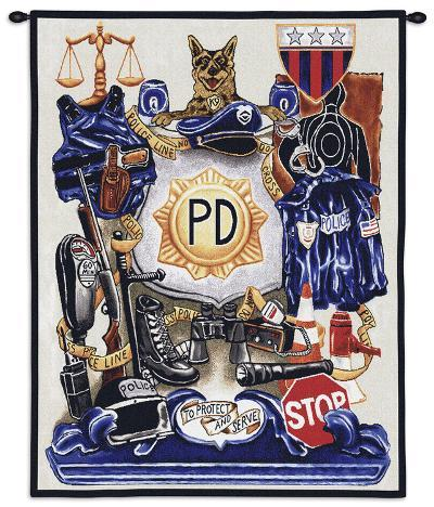 Policeman's Pride--Wall Tapestry