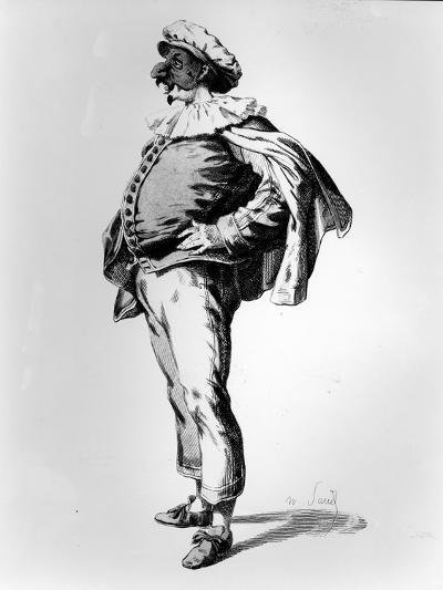 Polichinelle, Depicted in the Stage Costume of 1685, 1860 (Litho)-Maurice Sand-Giclee Print