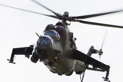 Polish Army Mil Mi-24V Hind in Flight--Photographic Print