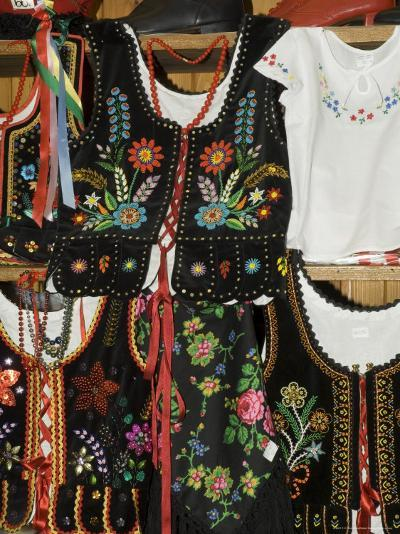 Polish Goods on Market Stalls in the Cloth Hall, Main Market Square (Rynek Glowny), Krakow, Poland-R H Productions-Photographic Print