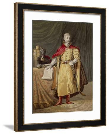 Polish Nobleman in Ancient Clothes, Circa 1820--Framed Giclee Print