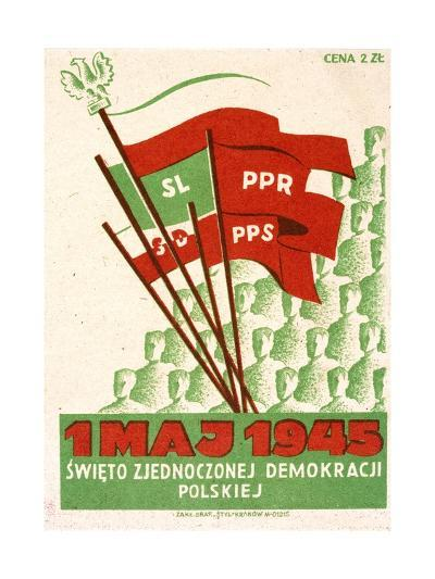 Polish Postcard from May Day 1945--Giclee Print