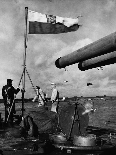 Polish Ships with British Fleet--Photographic Print