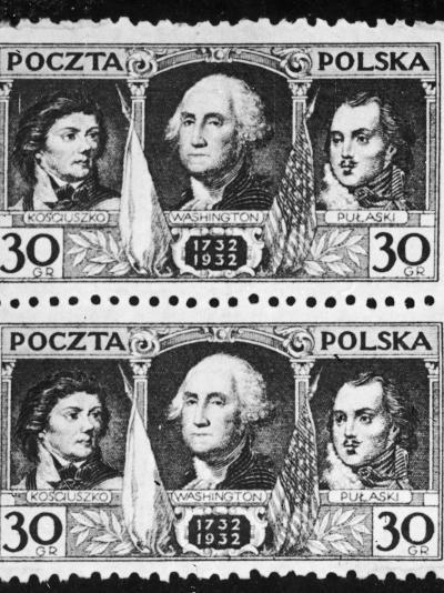 Polish Stamp to Commemorate Bicentenary--Photographic Print