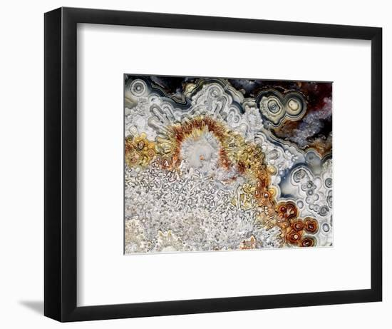 Polished 'crazy Lace' Agate-Dirk Wiersma-Framed Giclee Print