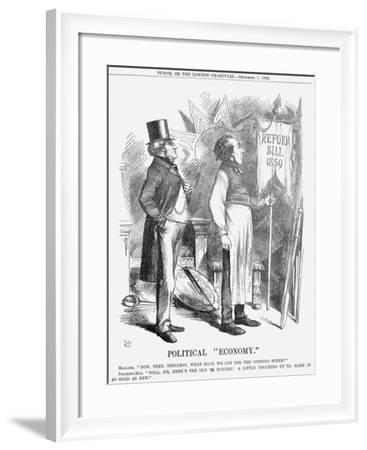 Political Economy, 1866-John Tenniel-Framed Giclee Print