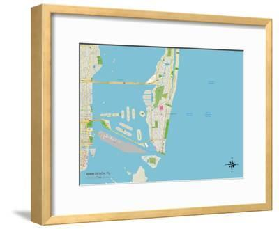 Political Map Of Florida.Beautiful Maps Of Florida Framed Posters Artwork For Sale Art And
