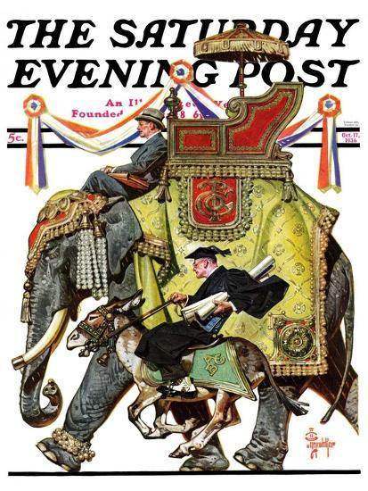 """Political Party Symbols,"" Saturday Evening Post Cover, October 17, 1936-Joseph Christian Leyendecker-Giclee Print"