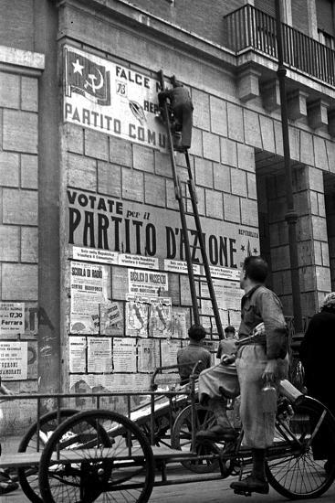 Political Posters During the Referendum to Choose Either Republic or Monarchy-Luigi Leoni-Photographic Print