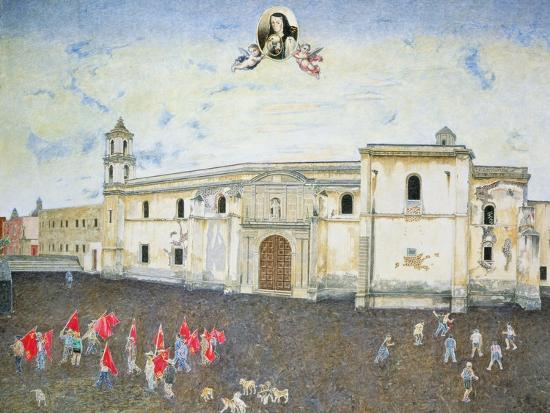 Political Protest, the Cloister of Sor Juana De La Cruz (1648-95) 2001-James Reeve-Giclee Print