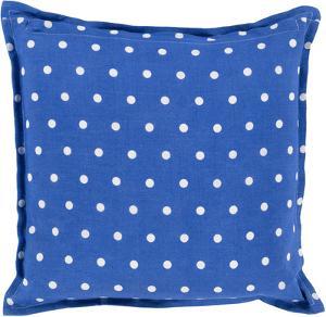 Polka Dot Linen Pillow Down Fill - Cobalt (Sold Out)
