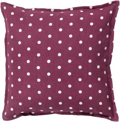 Polka Dot Linen Pillow Poly Fill - Eggplant (Sold Out)--Home Accessories
