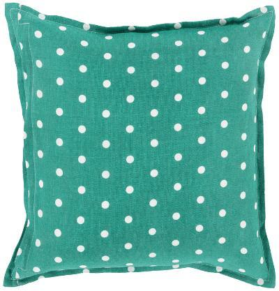 Polka Dot Linen Pillow Poly Fill - Kelly Green (Sold Out)--Home Accessories