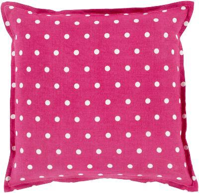 Polka Dot Linen Pillow Poly Fill - Magenta (Sold Out)--Home Accessories