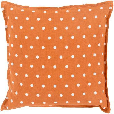 Polka Dot Linen Pillow Poly Fill - Orange (Sold Out)--Home Accessories