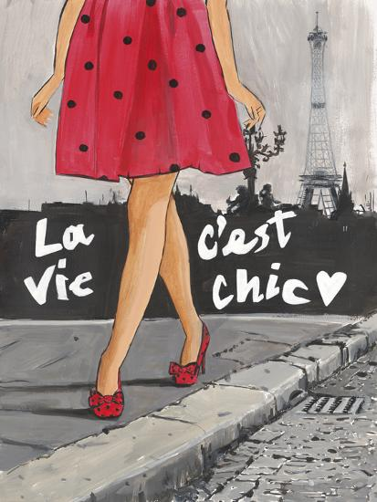Polka Dot Paris II-Juliette McGill-Giclee Print