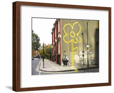 Pollard Street, London (graffiti attributed to Banksy)