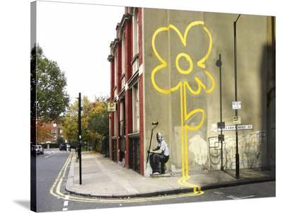 Pollard Street, London (graffiti attributed to Banksy)--Stretched Canvas Print