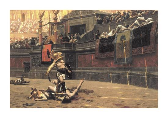 Pollice Verso, 1872 Premium Giclee Print by Jean Leon ...