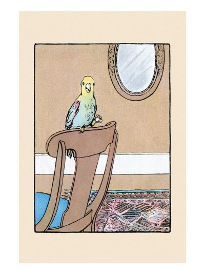 Polly Parrot on the Chair-Julia Dyar Hardy-Art Print