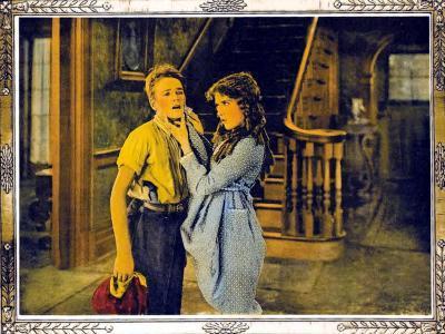 POLLYANNA, l-r: Howard Ralston, Mary Pickford on lobbycard, 1920.--Art Print