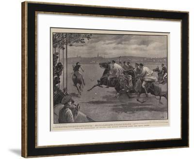 Polo by Moonlight in Malta, the Match Between Army and Navy Teams-John Charlton-Framed Giclee Print